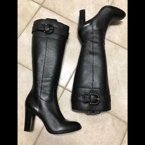 Banana Republic Tall Boots Black Leather 8.5